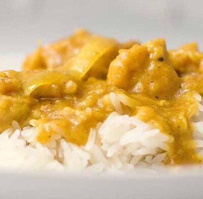 Pollo in salsa curry