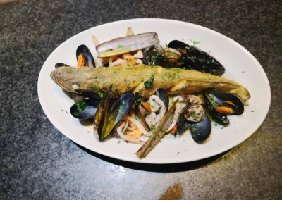 nasello ai frutti di mare