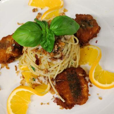 Spaghetti con sarde e bottarga